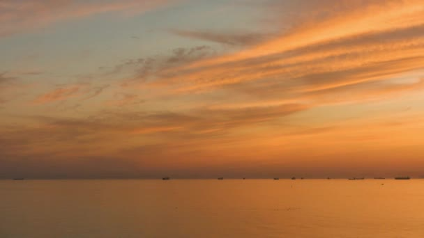 Majestic sunset over beautiful sea. Professional time lapse, no flicker, no birds.