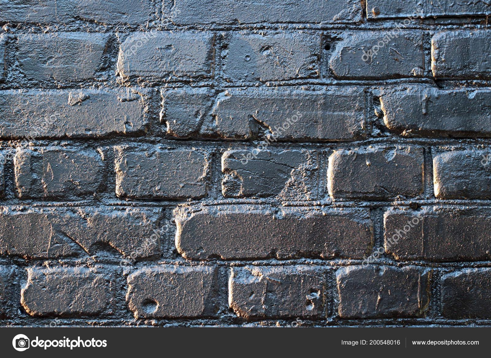 Peindre Un Mur De Brique brick wall silver paint — stock photo © photomost #200548016