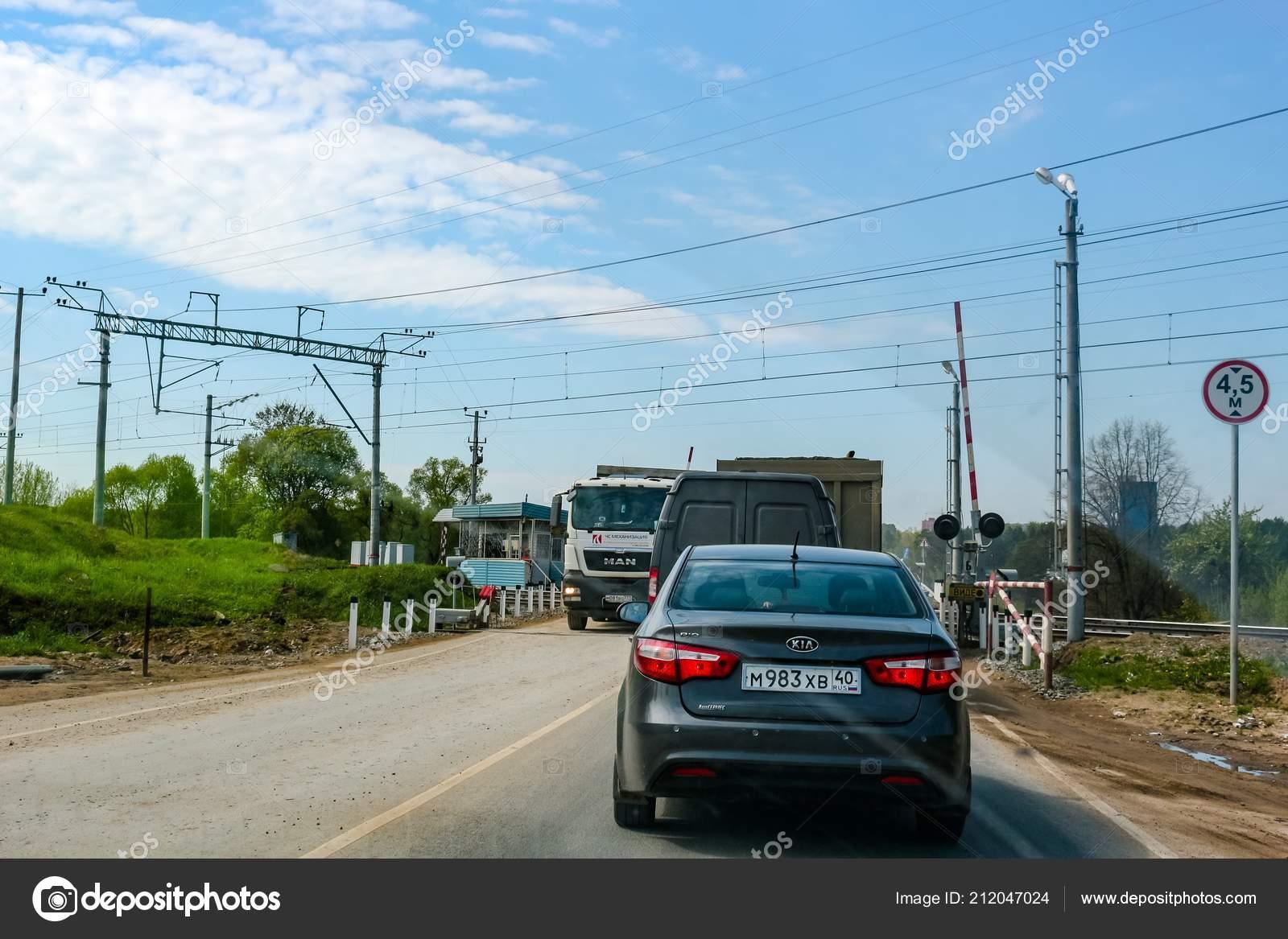 Maloyaroslavets Russia May 2016 Railroad Crossing Entrance