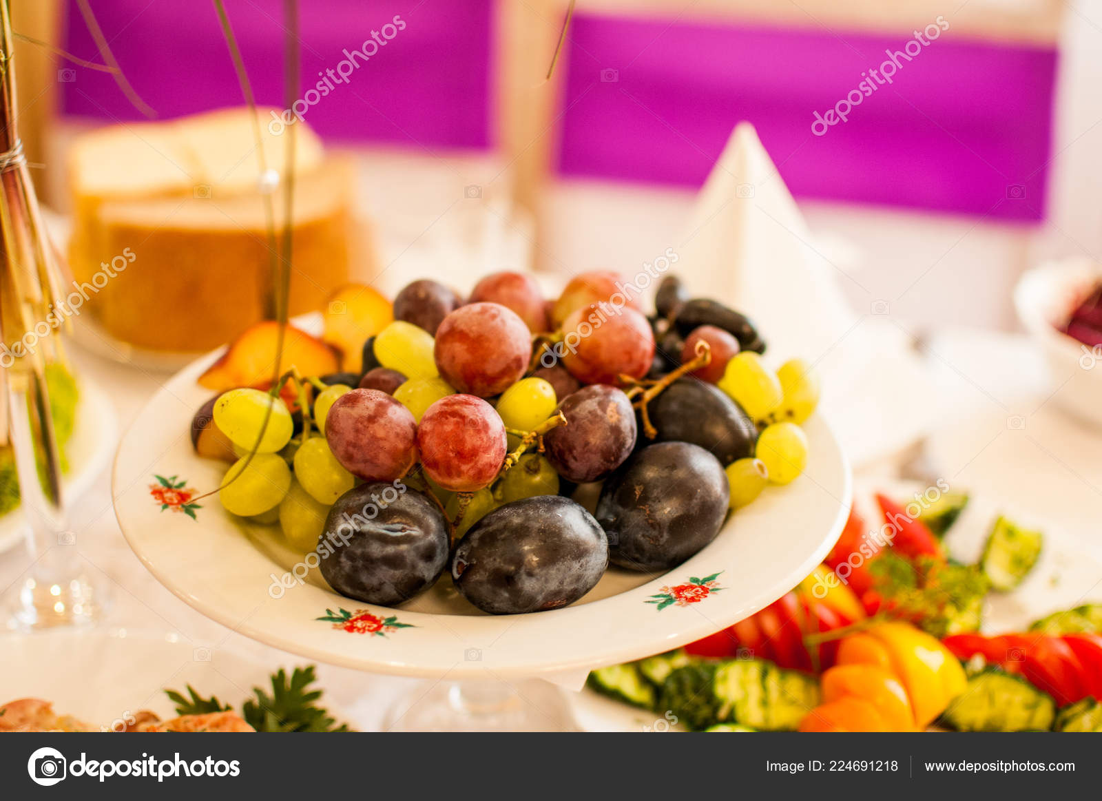 Dish Colorful Fruit Mix Stock Photo Galka3250 224691218