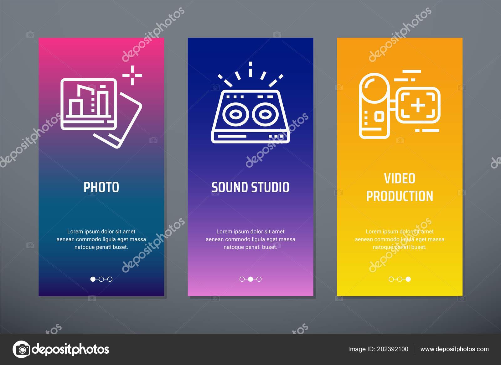 Foto Sound Studio Schede Video Produzione Verticale Con