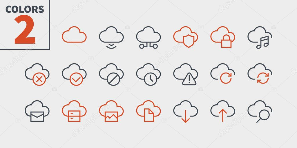 Network UI Pixel Perfect Well-crafted Vector Thin Line Icons