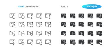 Email UI Pixel Perfect Well-crafted Vector Thin Line And Solid Icons