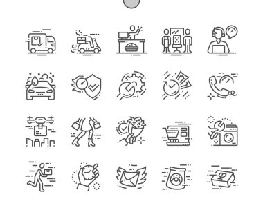 Fast service Well-crafted Pixel Perfect Vector Thin Line Icons 30 2x Grid for Web Graphics and Apps.