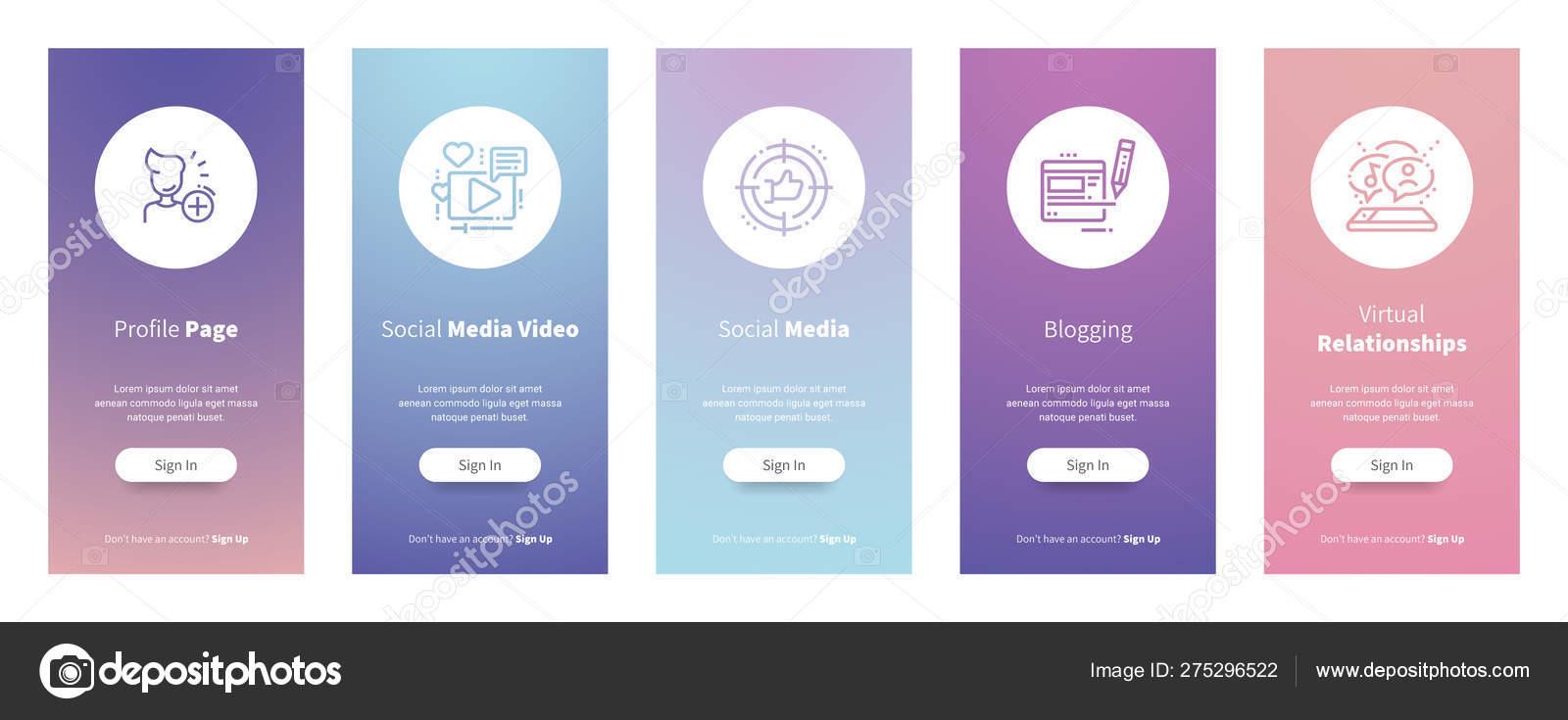 Profile Page Social Media Video Social Media Blogging Virtual