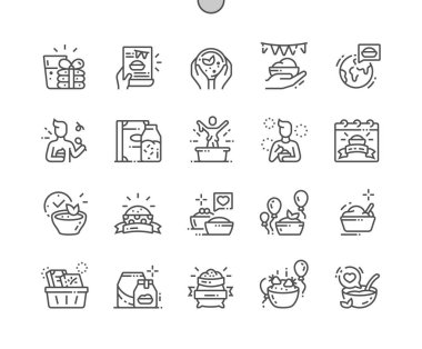 World Festival of Oatmeal Well-crafted Pixel Perfect Vector Thin Line Icons 30 2x Grid for Web Graphics and Apps. Simple Minimal Pictogram icon
