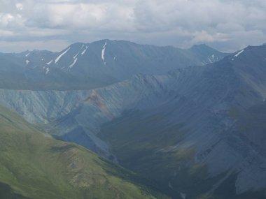 landscape view of Beluha from the Kara-tyurek pass, Altai Mountains