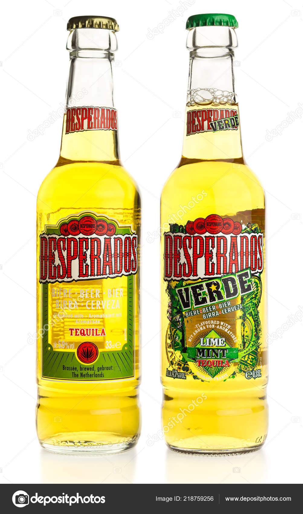 Bottle Mexican Desperados Tequila Verde Beer Isolated White Background Stock Editorial Photo C Venemama2 218759256
