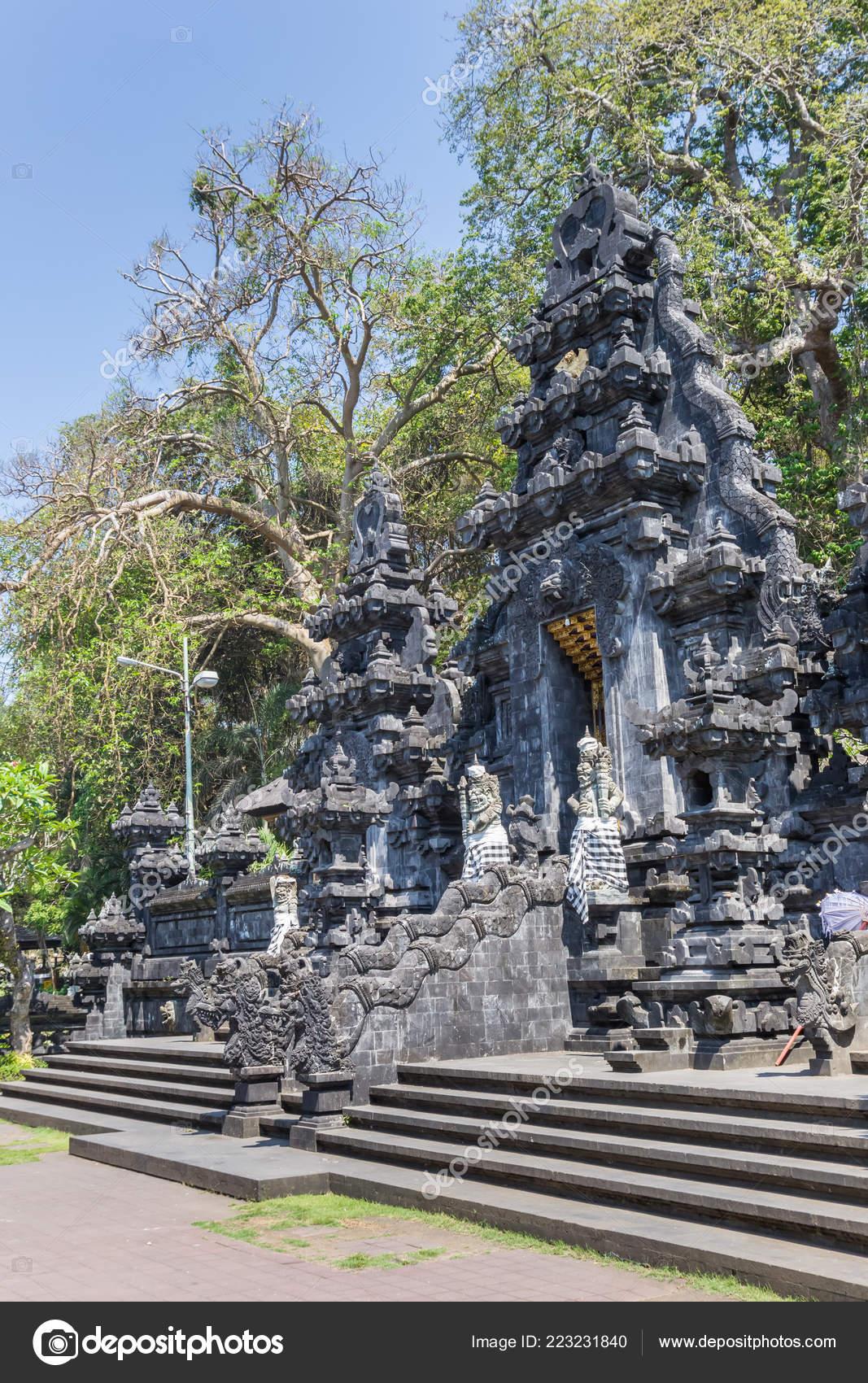 Historic Pura Goa Lawah Temple Bali Indonesia Stock Photo