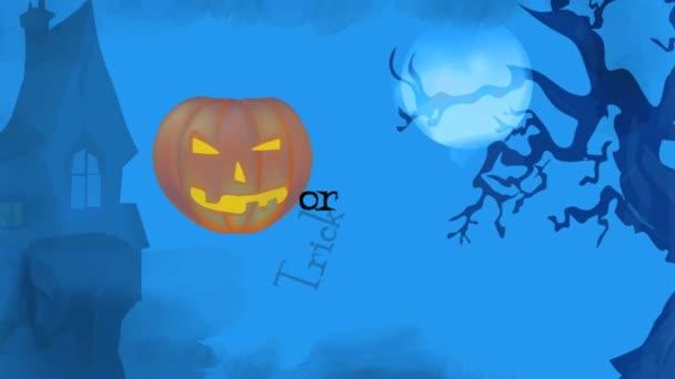 Boldog Halloween ünnepe Party Video kártya-val tök