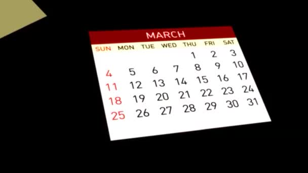 Video of Calendar, 3d animation