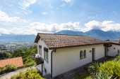 Photo Exterior of villa with large square, view of the Swiss hills. Nobody inside