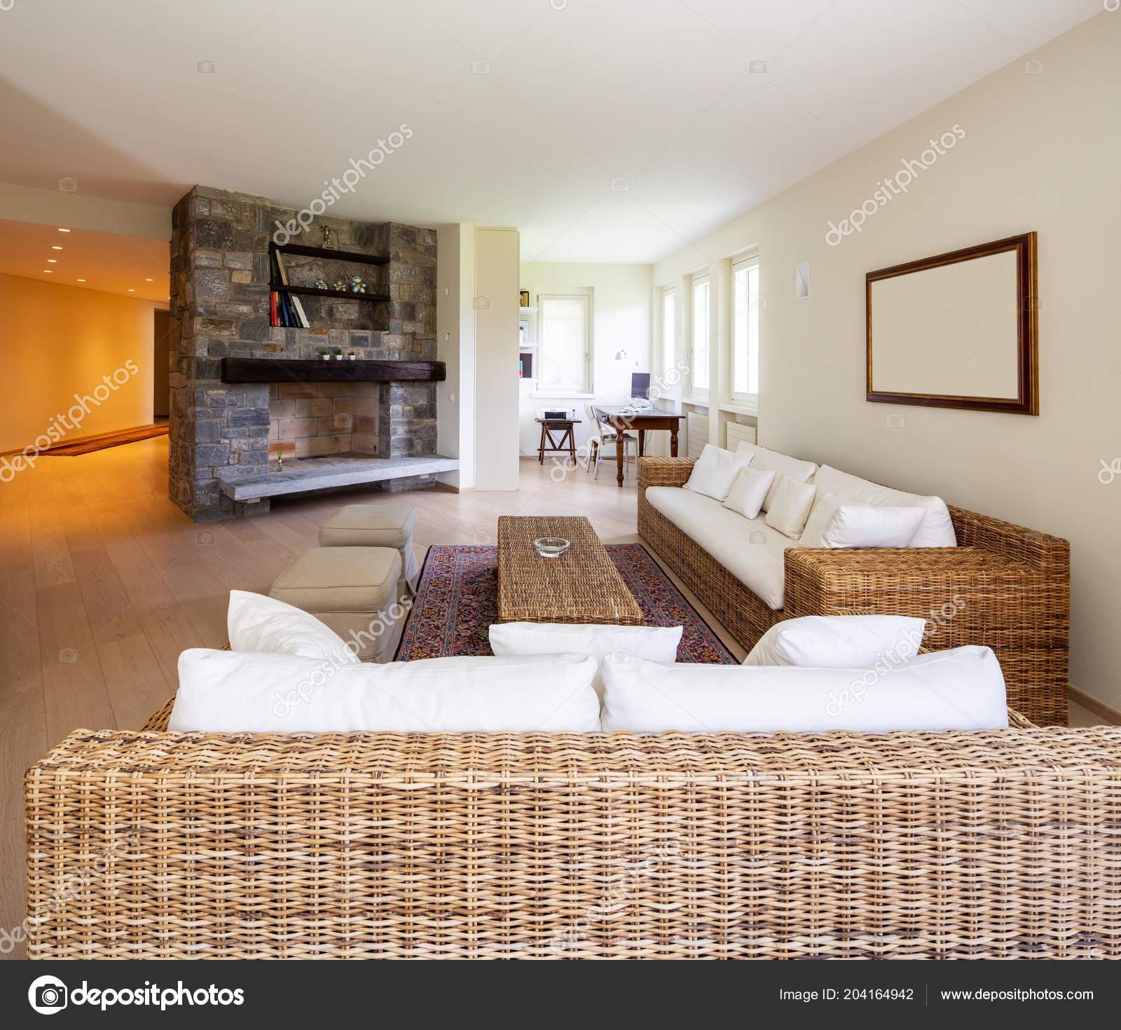 Modern Living Room Wicker Furniture Design Villa Nobody