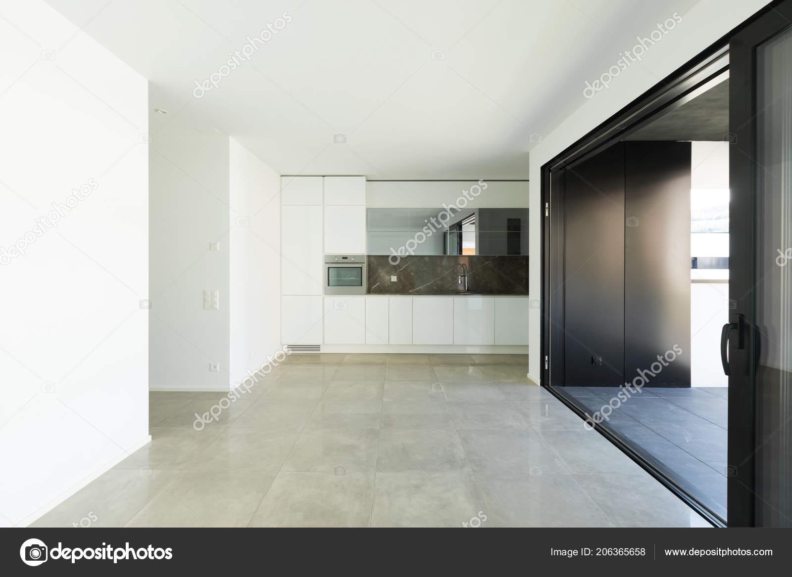 Interior modern apartment nobody white walls u stockfoto zveiger