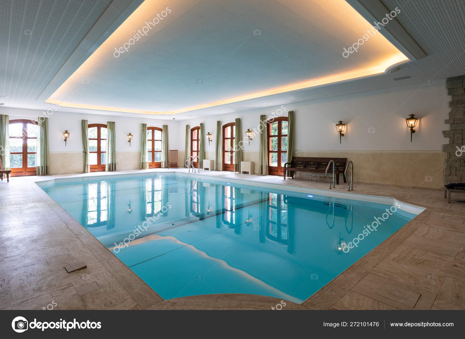 Indoor Swimming Pool In A Private Luxury Villa Stock Photo C Zveiger 272101476