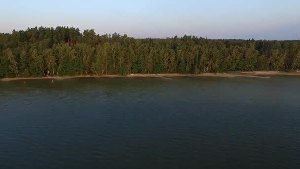repülő van a strandtól, a tó