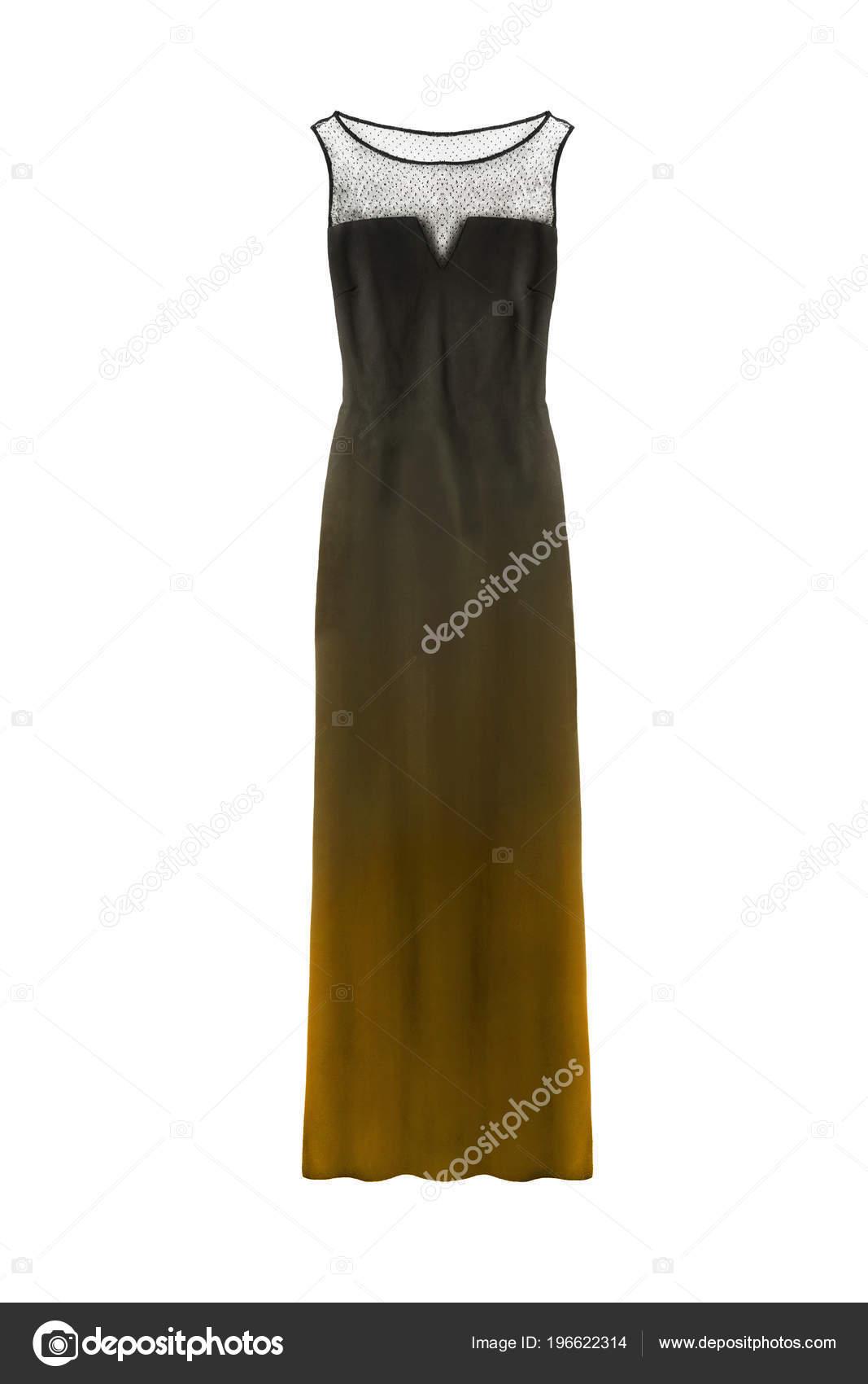 Vestidos negro con amarillo