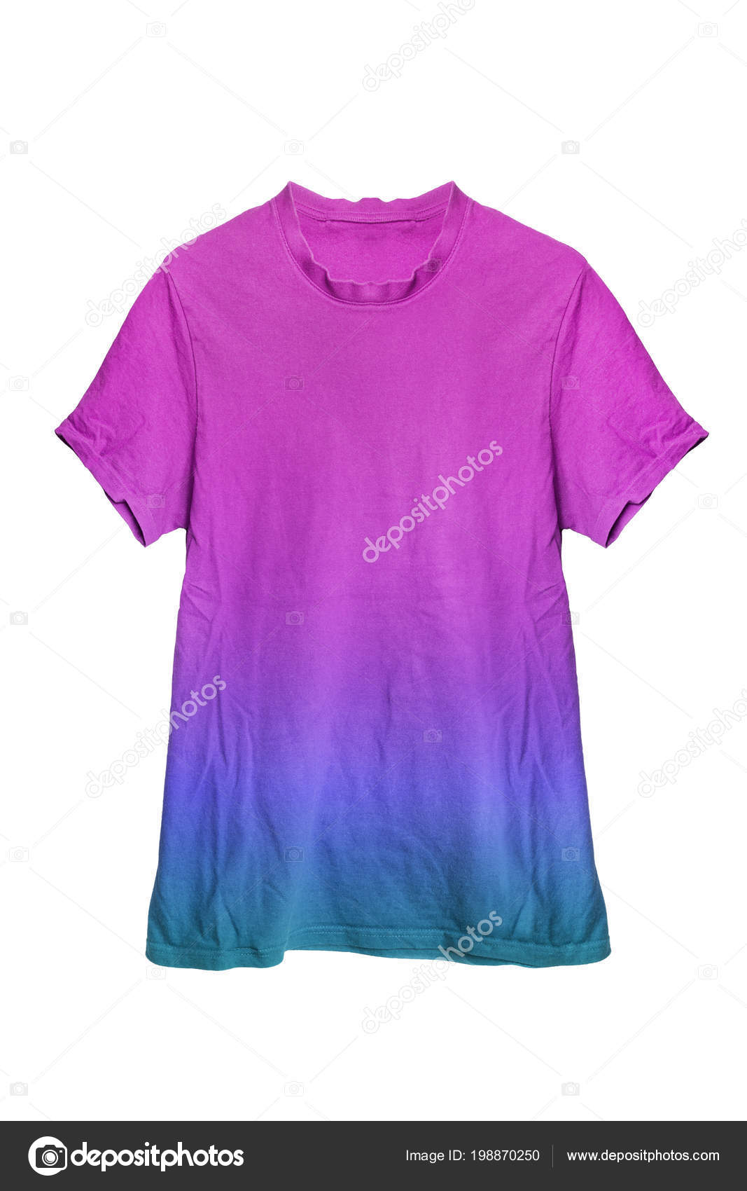 a82f0b8d Purple Blue Cotton Basic Sport Shirt Isolated White — Stock Photo ...