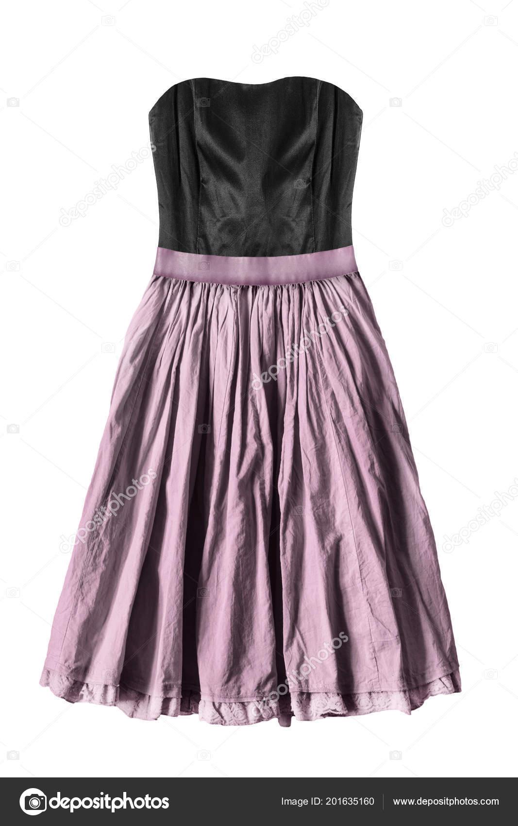 d9ff3bafc Vestido Strapless Con Corset Seda Negro Falda Acampanada Color Rosa ...