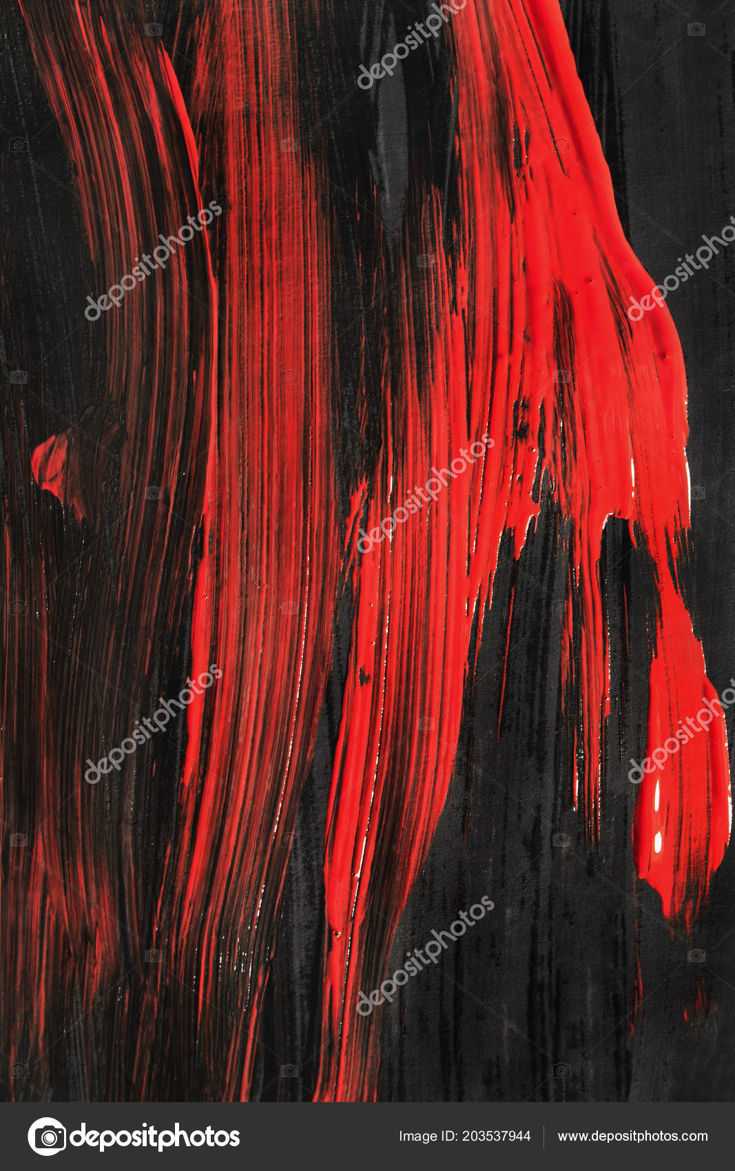 Abstract Black Red Acrylic Painting Background Stock Photo C Tarzhanova 203537944