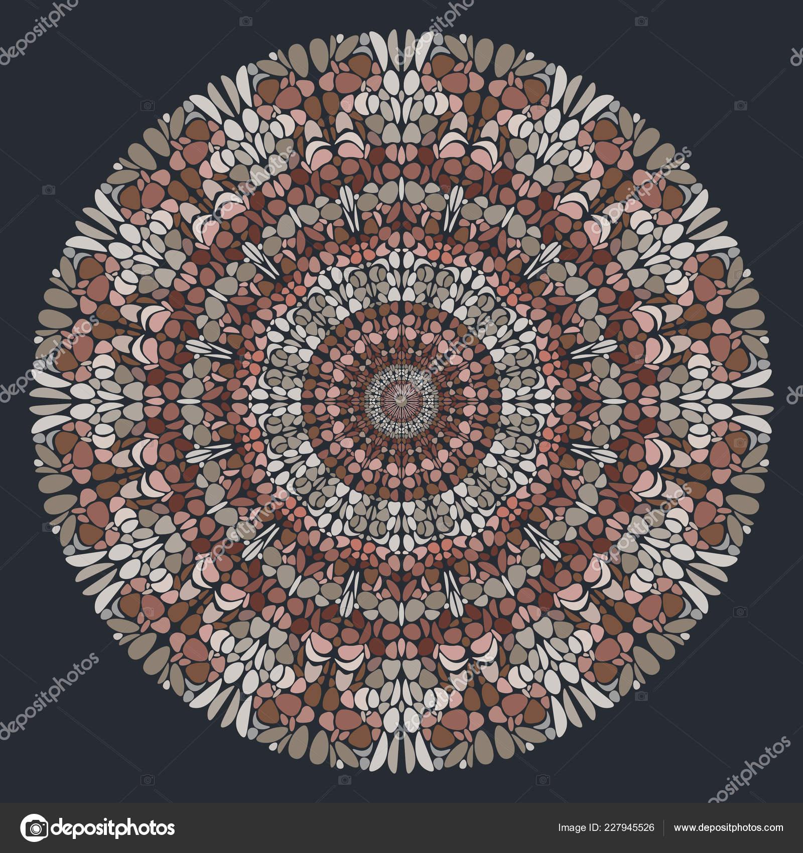 Mano Vector Dibujado Arte Mandala Decoración Años Patrón