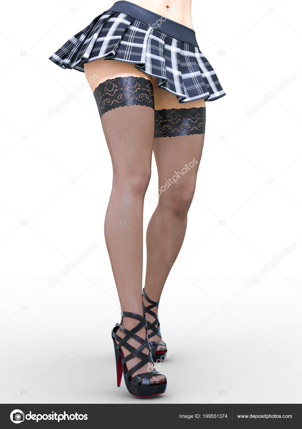 9ecffd51d Mujeres bellas con falda corta | Hermosa Jaula Largo Delgado Sexy ...