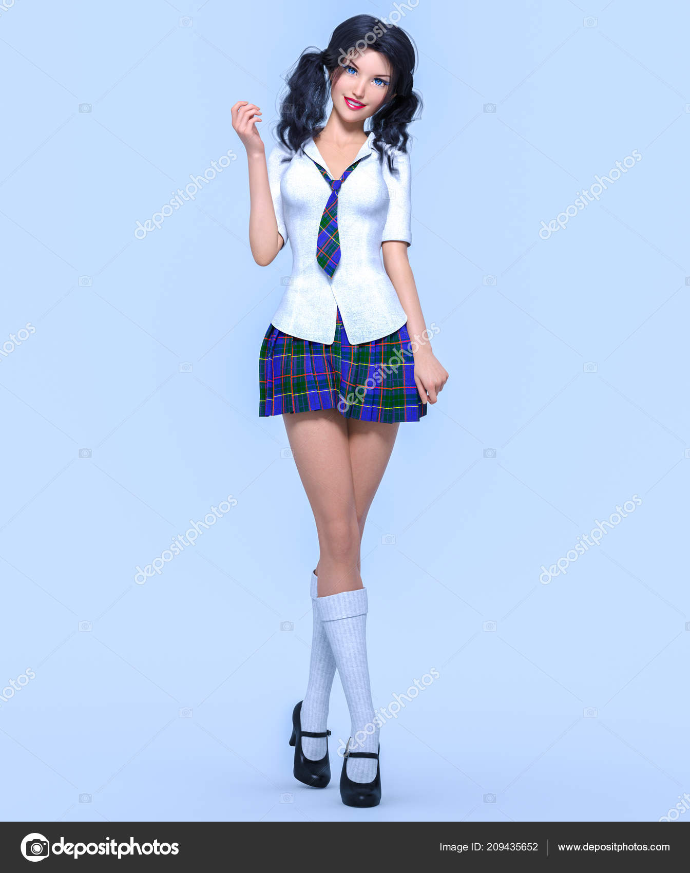 Pics of young girls in school uniform