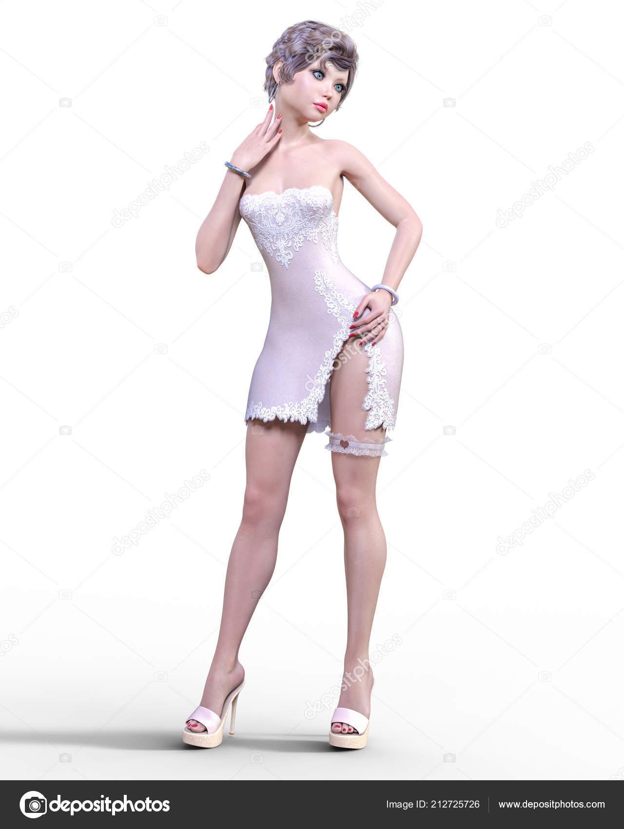 Femme Courte Coeur Mousse Robe Avec Brune Légère Point Belle N0wv8nm