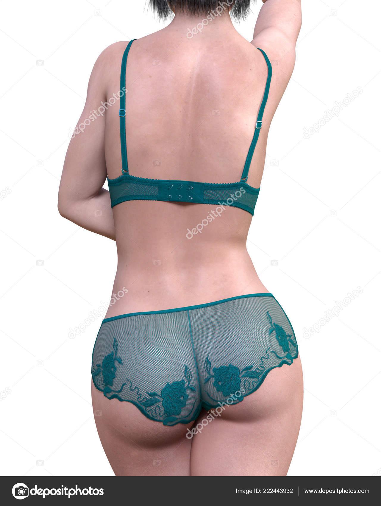 d41dfce0aa6 Jeune fille en sous-vêtements de dentelle vert. Culotte transparente et  soutien-gorge. Art de la mode extravagante. Femme debout candid  provocatrice pose ...