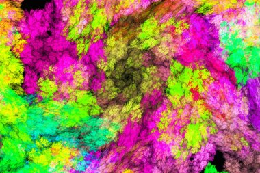3D Abstract fractal background