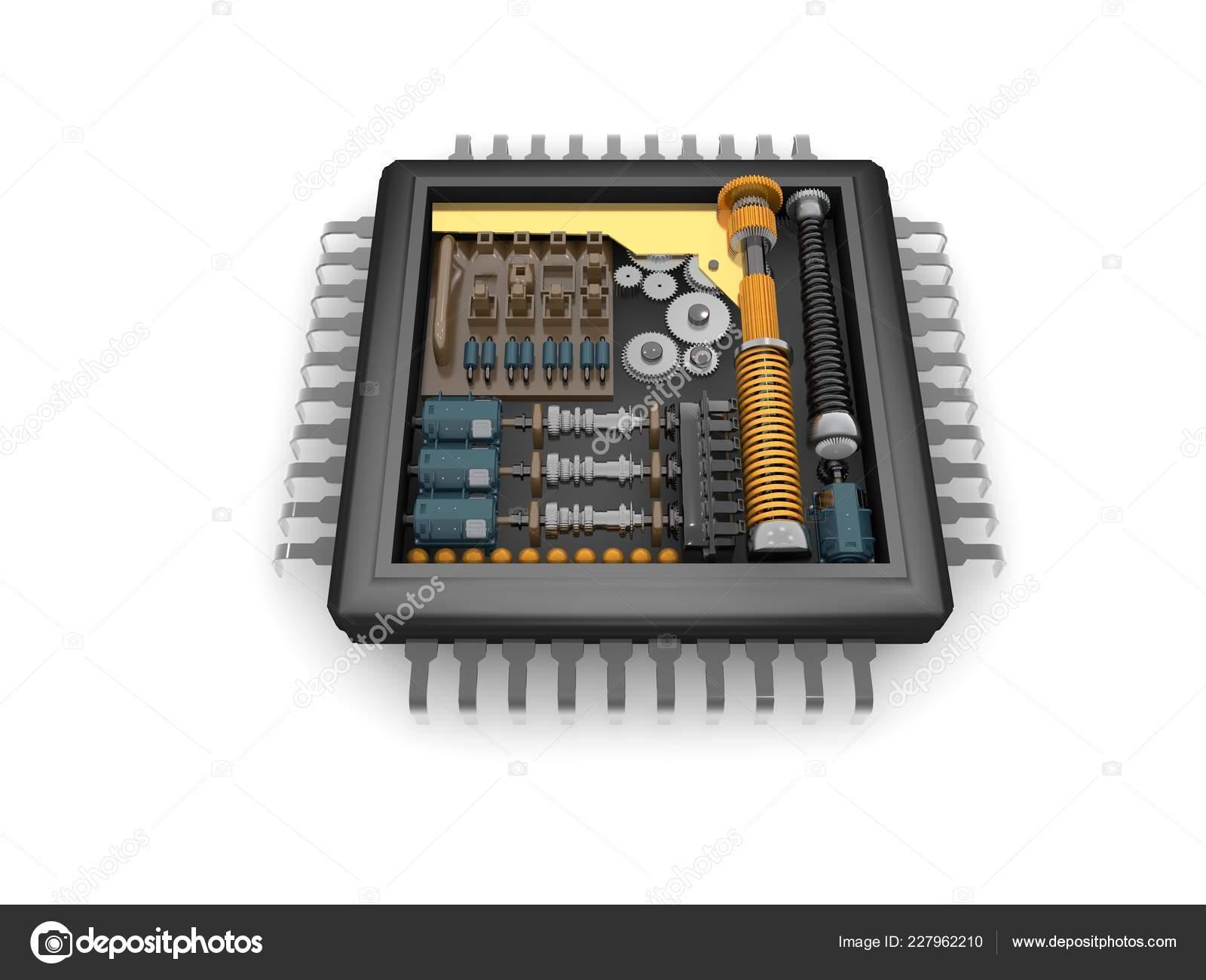 Internal Structure Cpu Reducer Mechanism Gears Springs