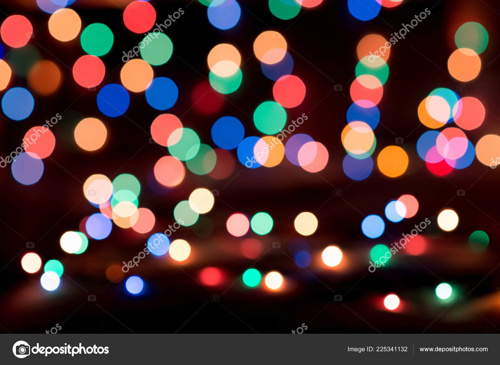 Colorful Christmas Lights Background.Colorful Christmas Lights Blurred Bokeh Background Stock