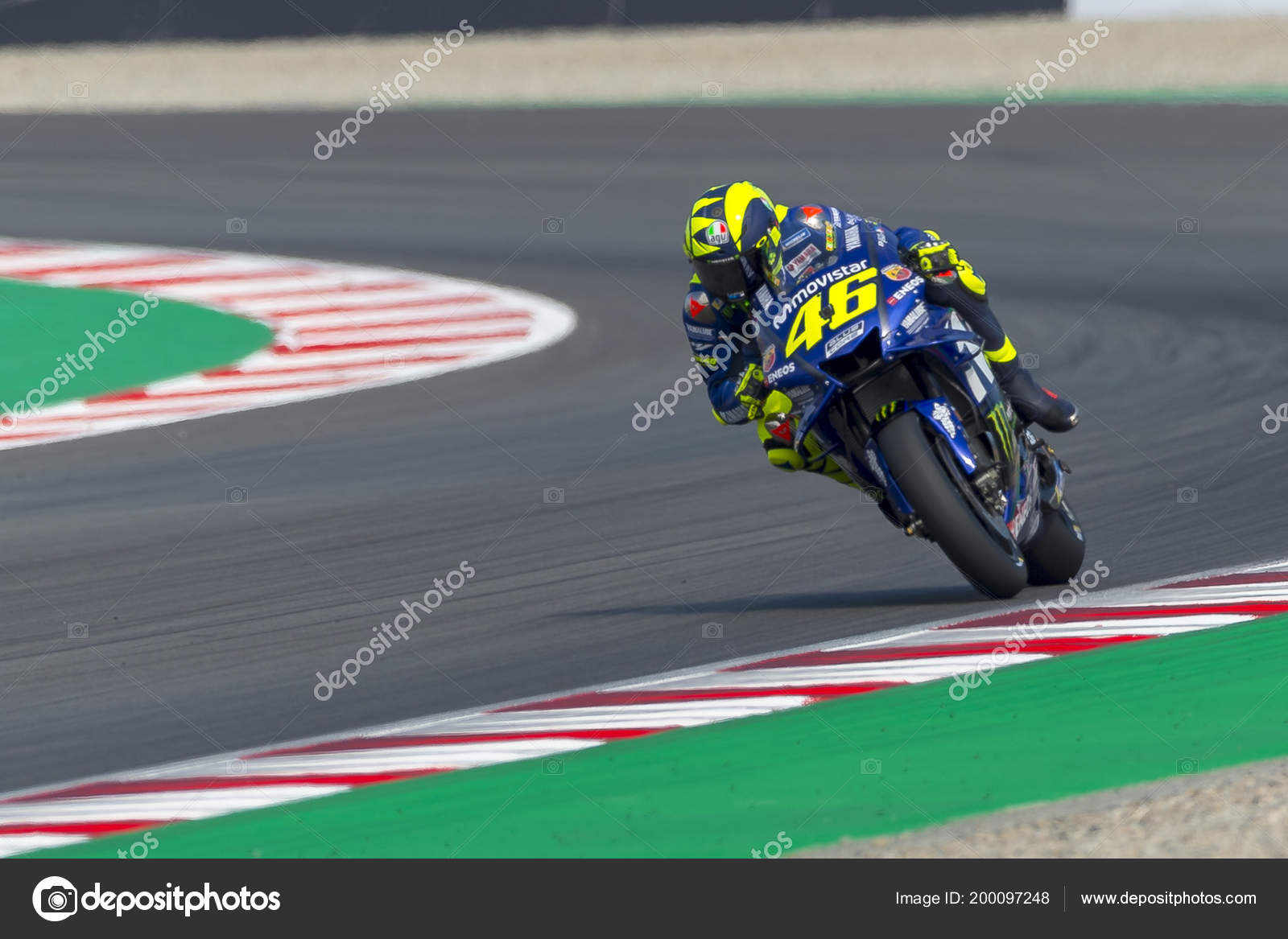 Driver Valentino Rossi Monster Energy Grand Prix Catalonia Motogp