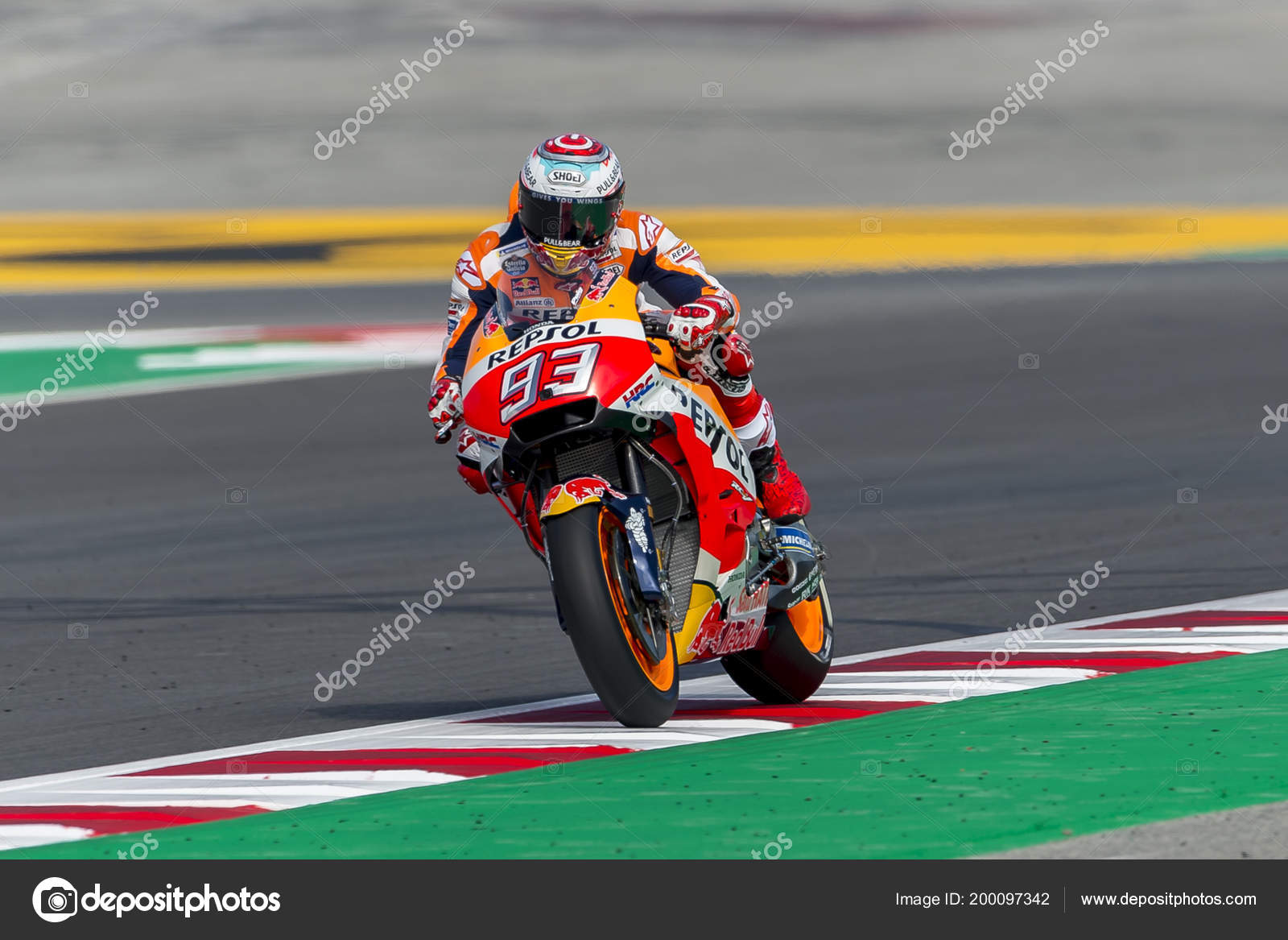 Driver Marc Marquez Monster Energy Grand Prix Catalonia Motogp