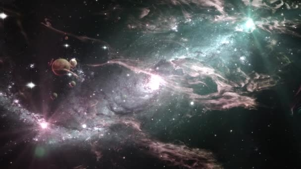 Pozadí animace galaxie a hvězdy