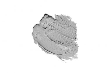 Smear and texture of lipstick or acrylic paint isolated on white