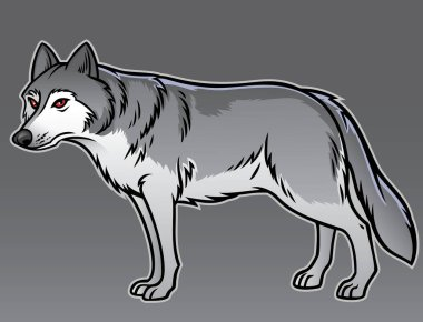 Vector of grey wolf animal icon