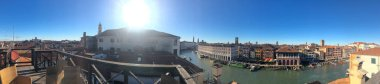 Italy, VENICE, Mart, 2019: Panoramic view over the Grand Canal and the skyline in Venice, Italy. Sunny day