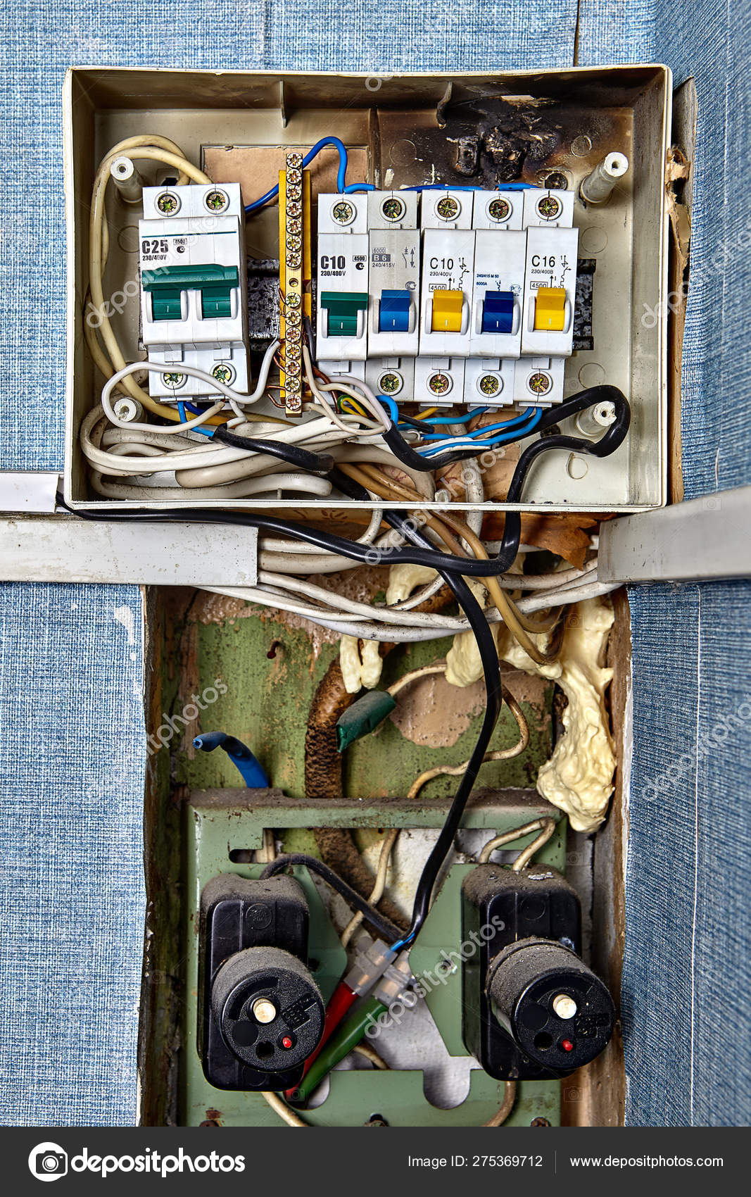 Fuse box with burnt circuit breaker panel. – Stock Editorial ... A Wiring Into Fuse Box on