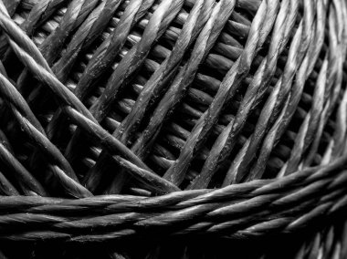 Detail of a cord clue texture