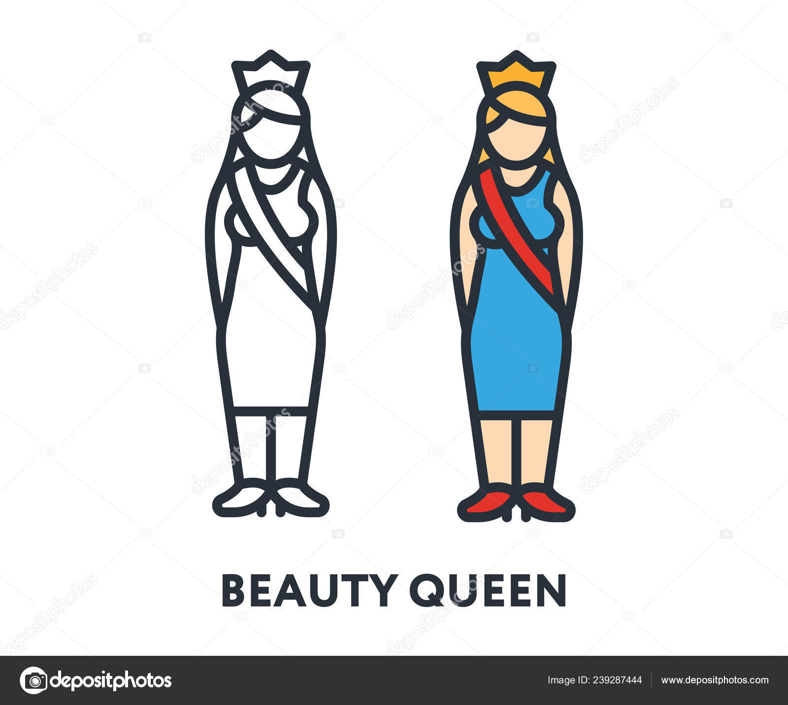 ᐈ Beauty Queen Cartoon Stock Backgrounds Royalty Free Beauty Pageant Cartoon Images Download On Depositphotos
