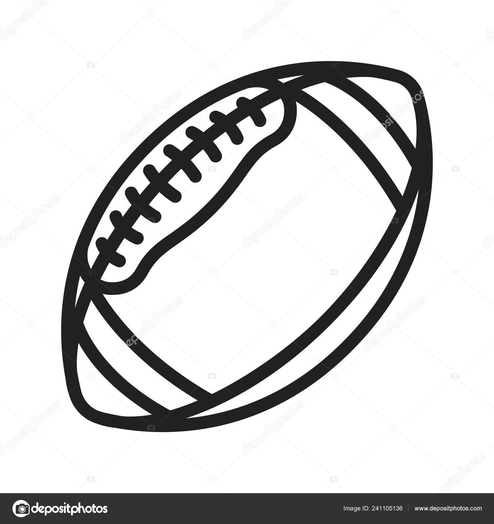 Rugby Ball Outline Image American Football Rugby Ball