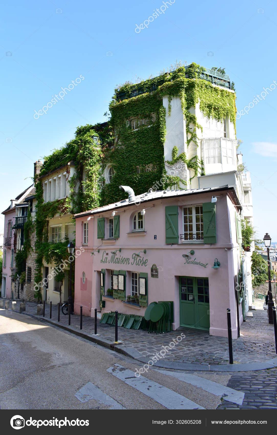 Famous Maison Rose Cafe Restaurant Located Montmartre Paris France August Stock Editorial Photo C Jmbf 302605208