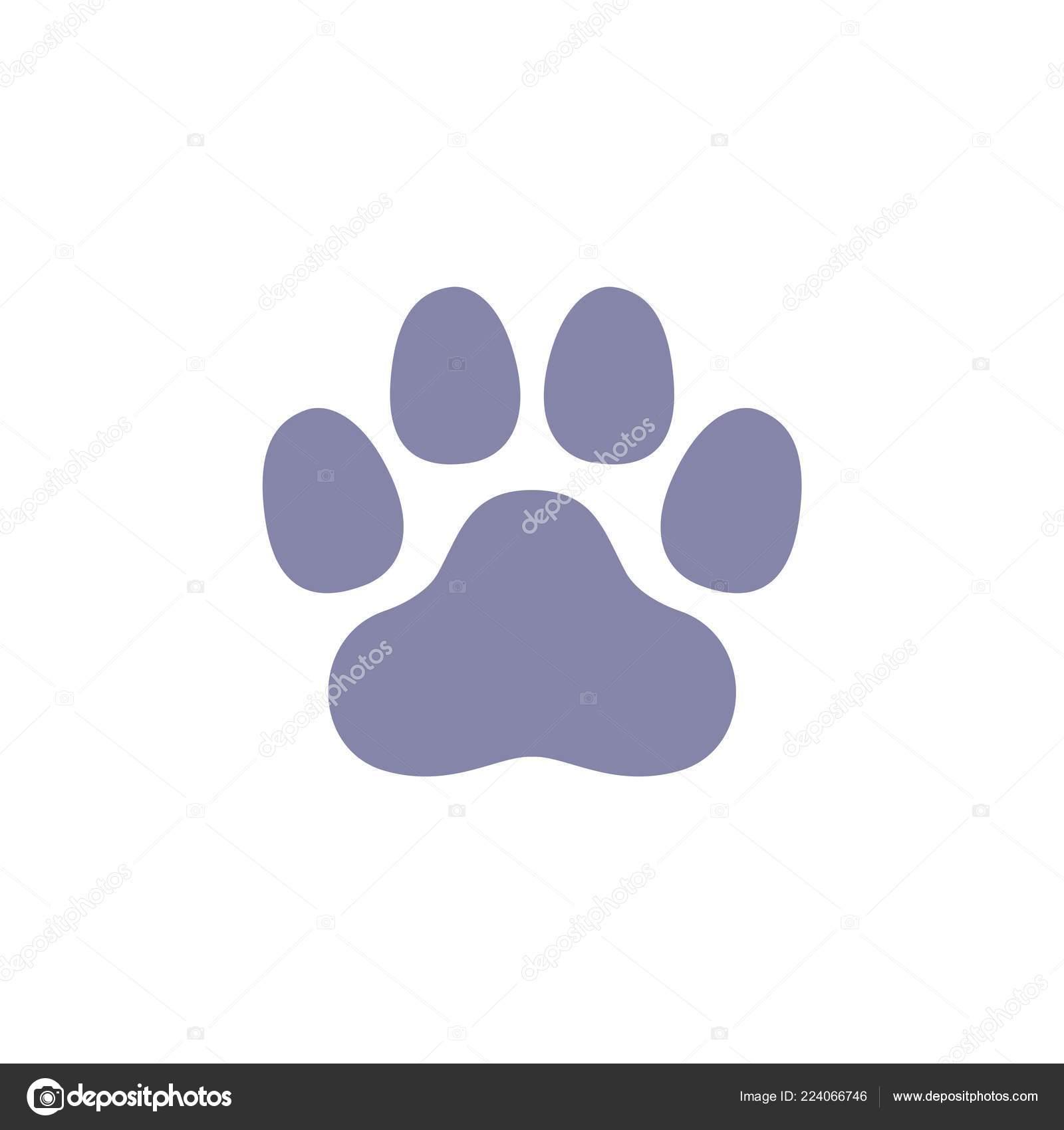 Dog Paw Print Logo Template Stock Vector Soponyono 224066746