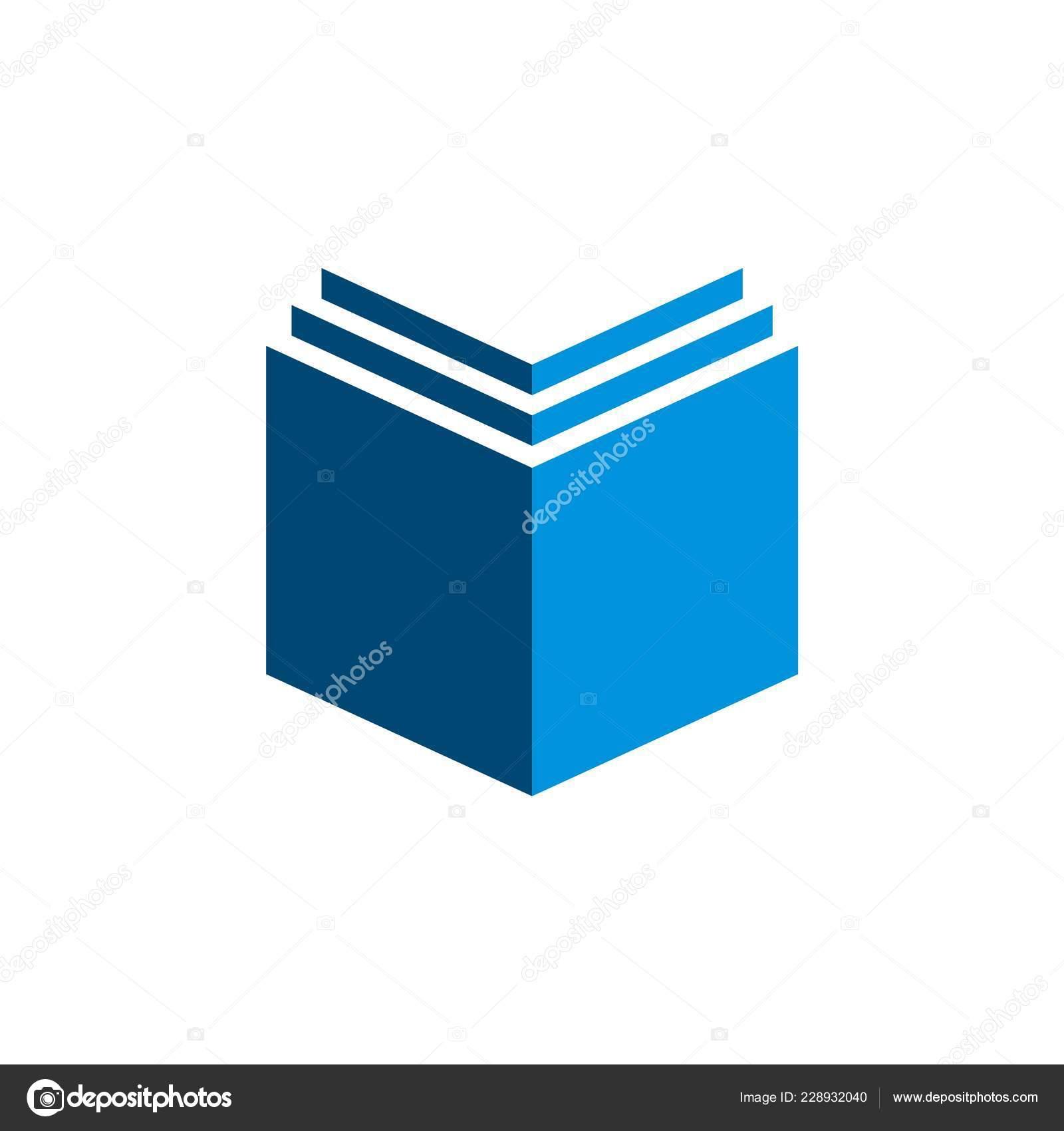 Modele Logo Livre Bleu Image Vectorielle Soponyono