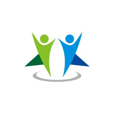 Partnership, Friendship, Relationship Human Shape Logo Template
