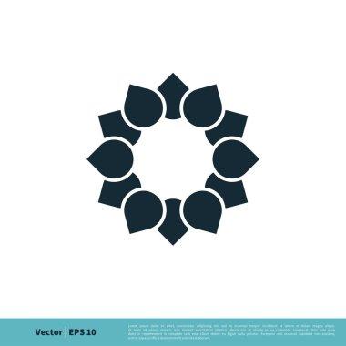 Flower Ornamental Sign Logo Template