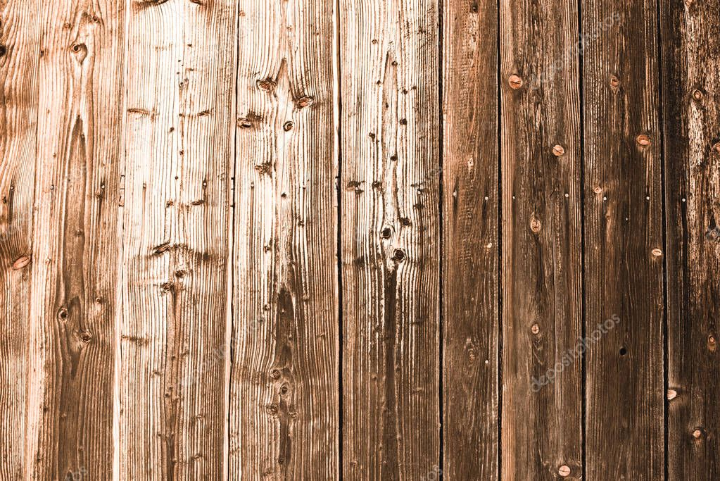 brown weathered aged wooden planks with copy space