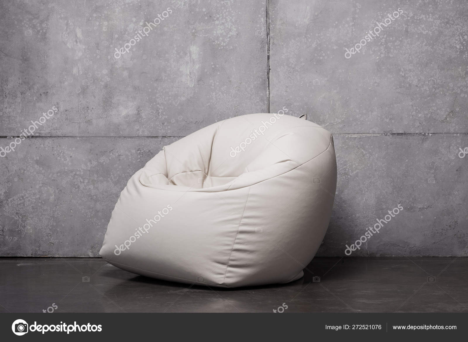 Awe Inspiring White Soft Bean Bag Chair Grey Copy Space Stock Photo Andrewgaddart Wooden Chair Designs For Living Room Andrewgaddartcom