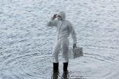 víz ellenőr a védő ruha gazdaság ellenőrzési készlet a folyami
